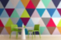 Multicolor-tri-ngulos-geom-trica-Wallpap