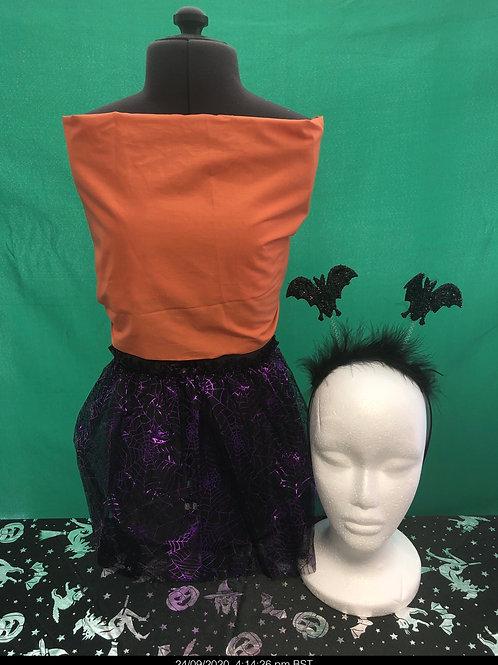 Purple glitter tutu and headboppers