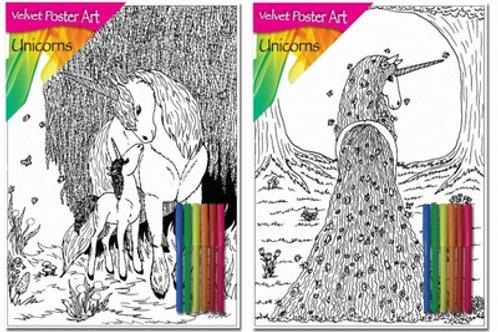 1281 Unicorn Velvet Poster Art