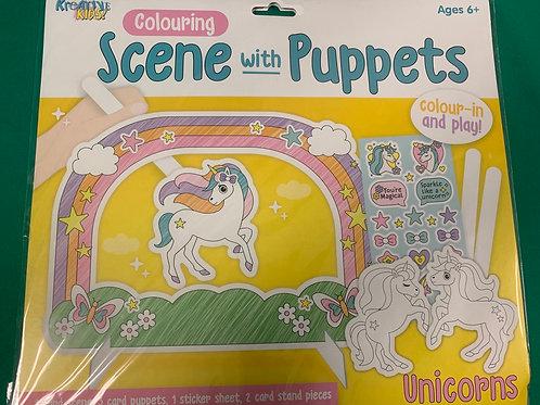 Unicorn puppet play set