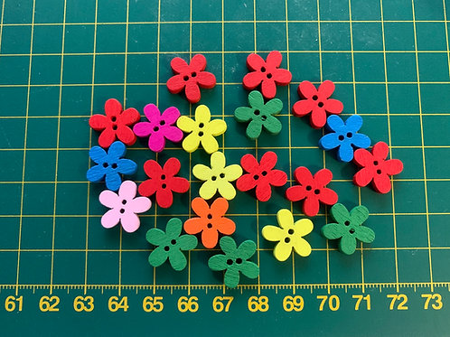 Wooden coloured floral buttons