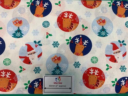 1326 Santa's Friends Circles 100% Cotton Fabric