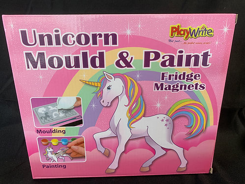 1207 Unicorn Mould and Paint Set (Fridge Magnets)