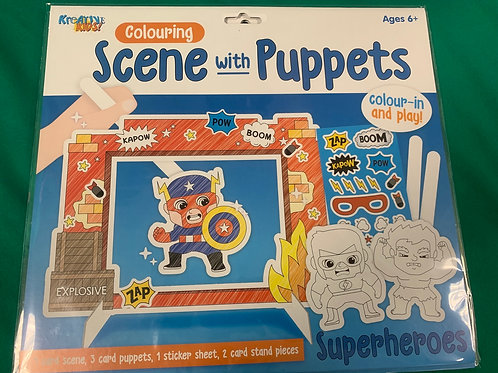 Superhero puppet play set