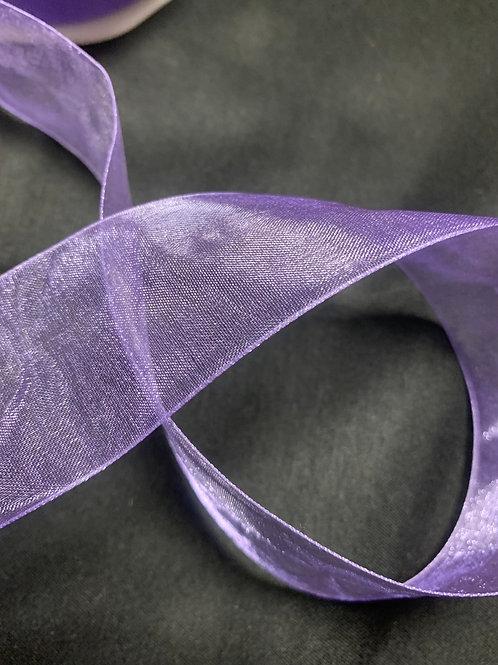 Lilac 38mm chiffon ribbon