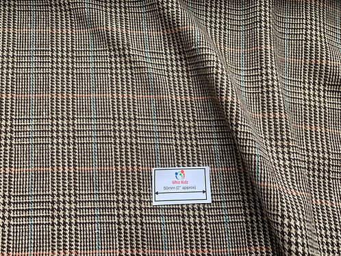 1456 Woven Wool Mix Dog-Tooth Check