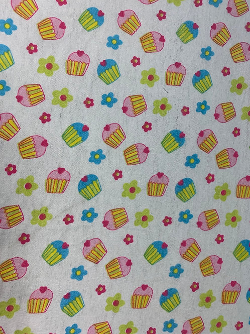 1258 Cupcake flowers brushes cotton