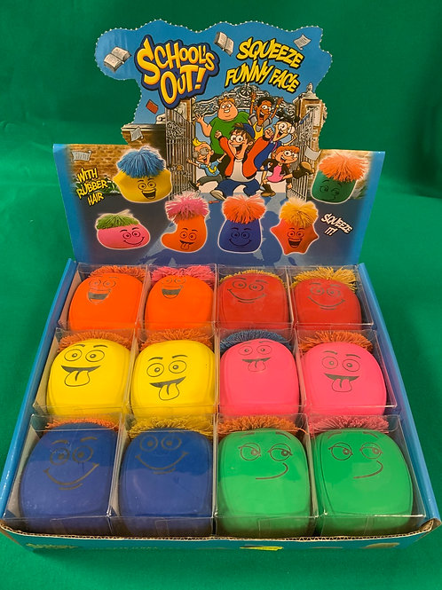 Squeeze funny face stress balls