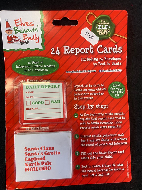 Behaviour report cards