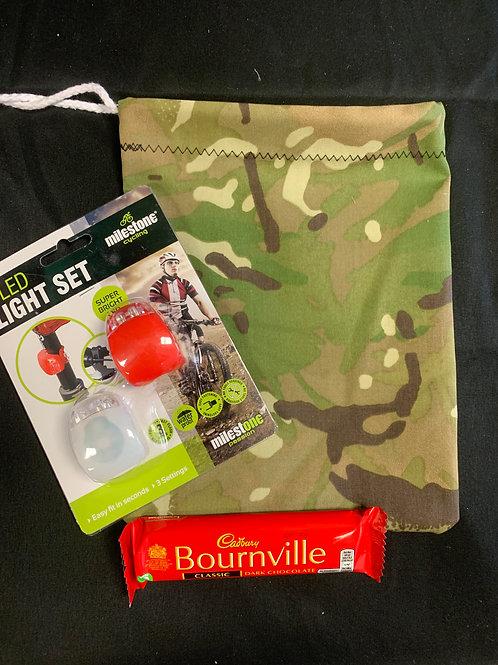 1407 Camouflage Bag & Bike Lights