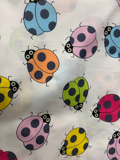Colourful ladybird cotton