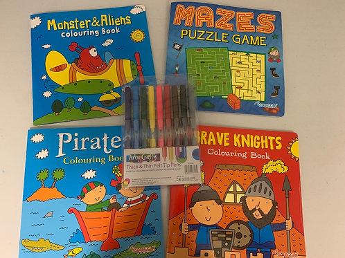 4 colouring book set 2