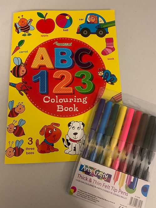 ABC 123 colouring & workbook