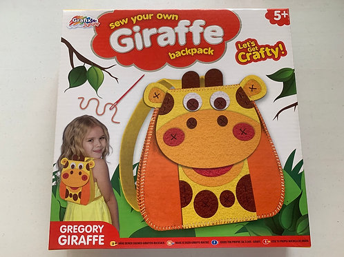 Sew your own Giraffe backpack children's sewing kit