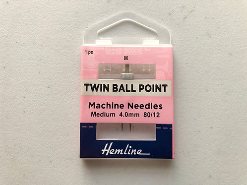 1441 Twin Ball Point Machine Needle  80 4mm