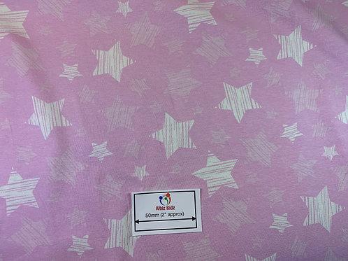 1367 Striped Stars on Pink - Jersey