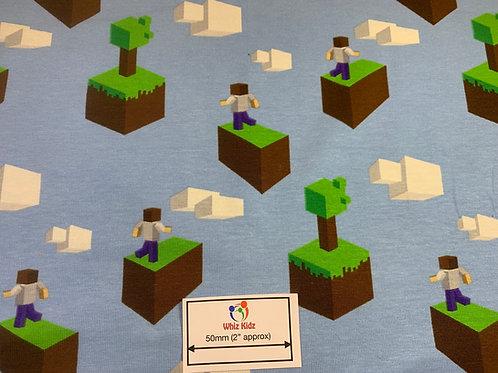 1366 Cartoon Block. Flying blocks design - Jersey
