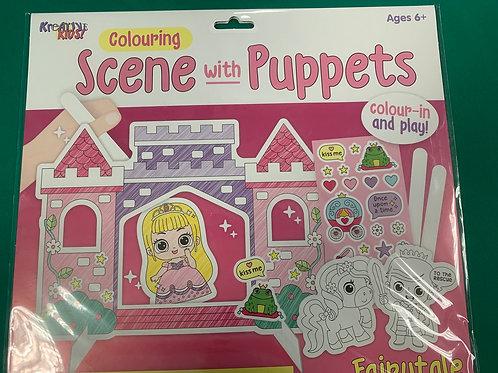 Fairytale puppet play set
