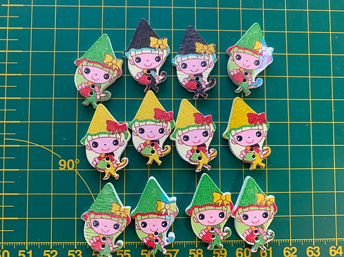 Wooden Pixie buttons