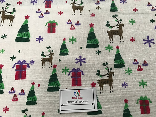 1358 Christmas Canvas 100% Cotton
