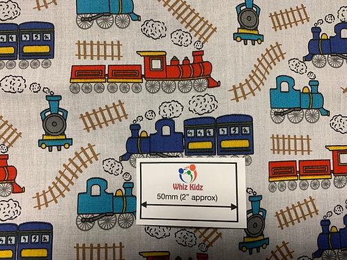 1153 Train Track polycotton