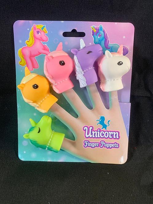 1185 Unicorn finger puppets