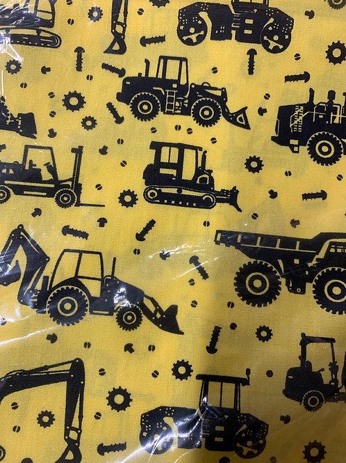 Yellow construction fabric