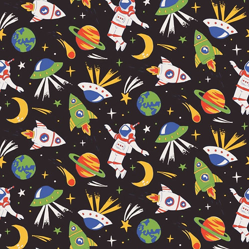 1511 Busy in Outer Space Polycotton