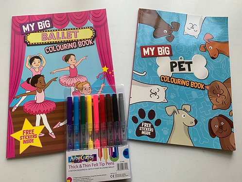 My Big colour & Stickers set Ballet & Pets