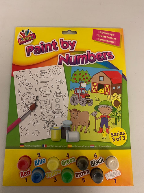Paint by numbers set