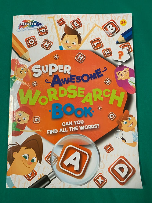 Super Awesome Wordsearch book