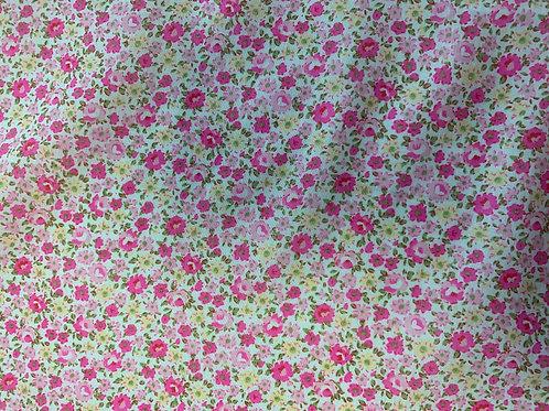 SPF003 Pink Yellow flowers fabric
