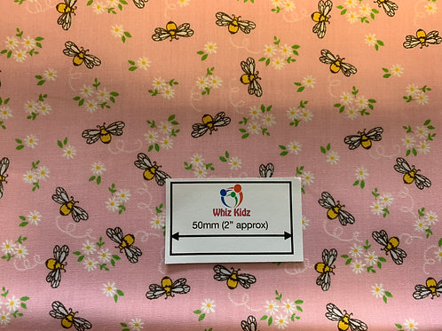 1143 Buzzy Bees pink fabric