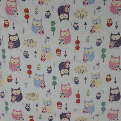 1636 Ivory Owls - 100% Cotton
