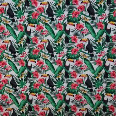 1521 Toucan - Ivory 100% Cotton Poplin