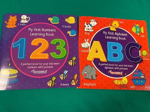 ABC & 123 Activity Books