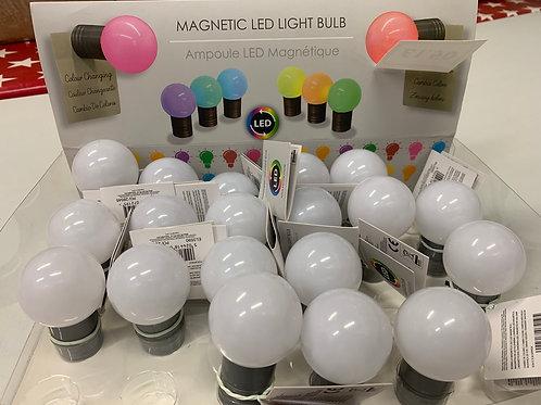Magnetic LED lightbulbs