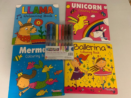 4 colouring book set 1