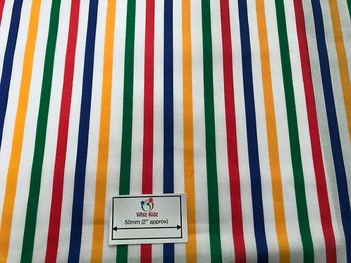 1356 Rainbow Stripes Polycotton