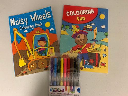 Noisy wheels and pirate ColouringFun set