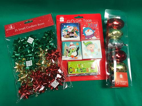 1305 Christmas Gift Wrap Set