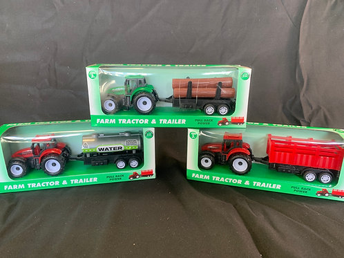 1171 Farm Tractor and trailer