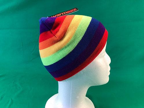 1238 Rainbow beanie hat