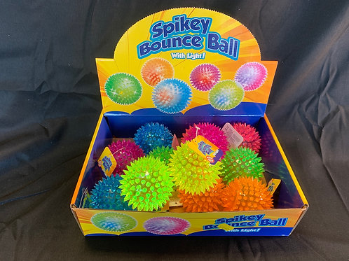 1180 Spikey bounce ball with light