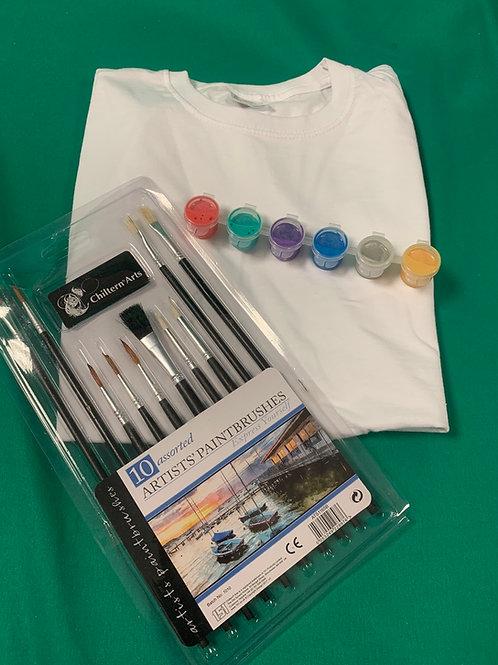 Fabric paint t shirt set
