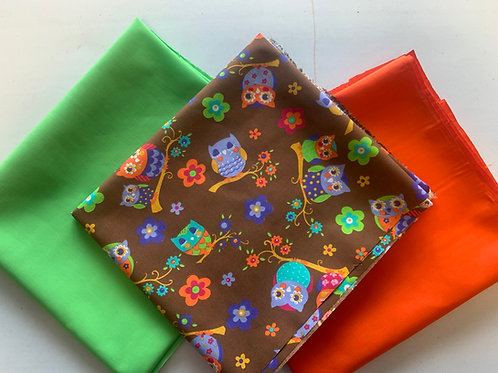 1689 - Funky Owl Fabric Pack - Polycotton