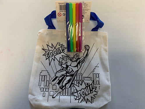 Superhero Colour in tote bag