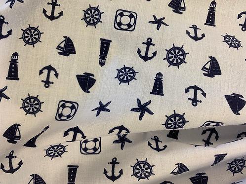 Nautical print polycotton