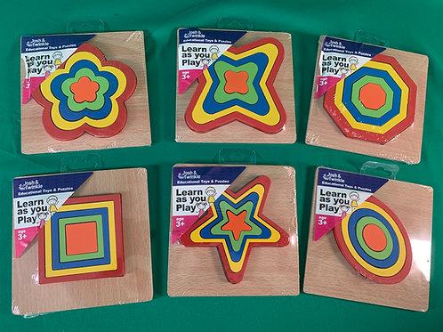 1243 Concentric Wooden Shape Squares (6 Var)