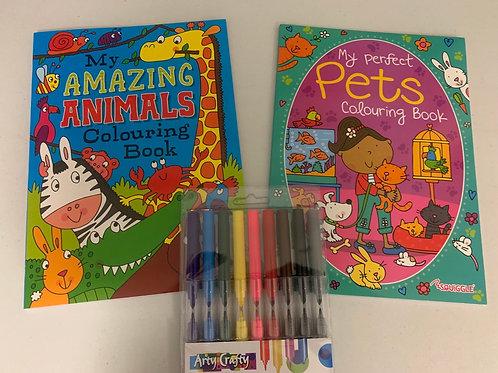 Animals colouring set